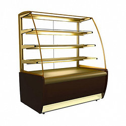 Витрина среднетемп. кондит. вентилир.1370х650х1280мм, K70 VM 1,3-1 (ВХСв - 1,3д Carboma) золото, +6..+12С