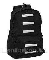 Универсальный школьный рюкзак в полоску черный