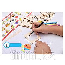 Детский набор для творчества — Трафареты (52 деталей), фото 3