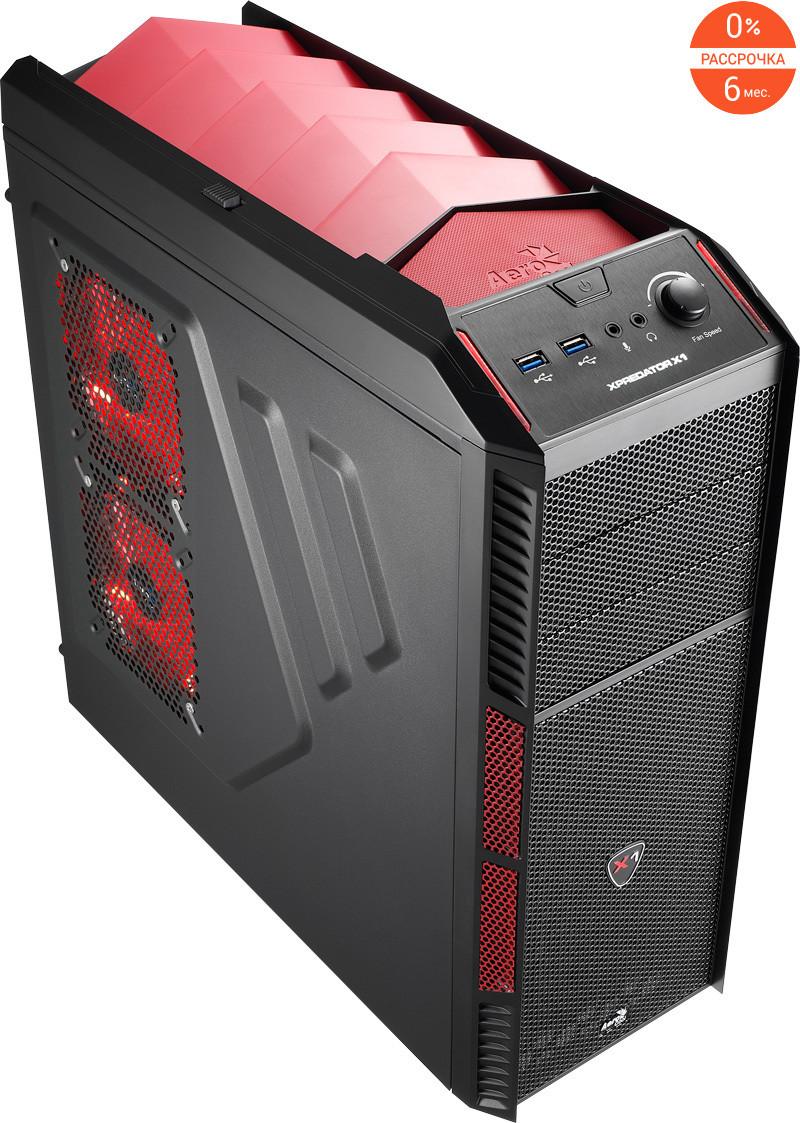 Кейс Aerocool Xpredator X1 Devil Red Edition