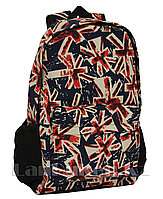 Школьный универсальный рюкзак цветной с принтом (синий)