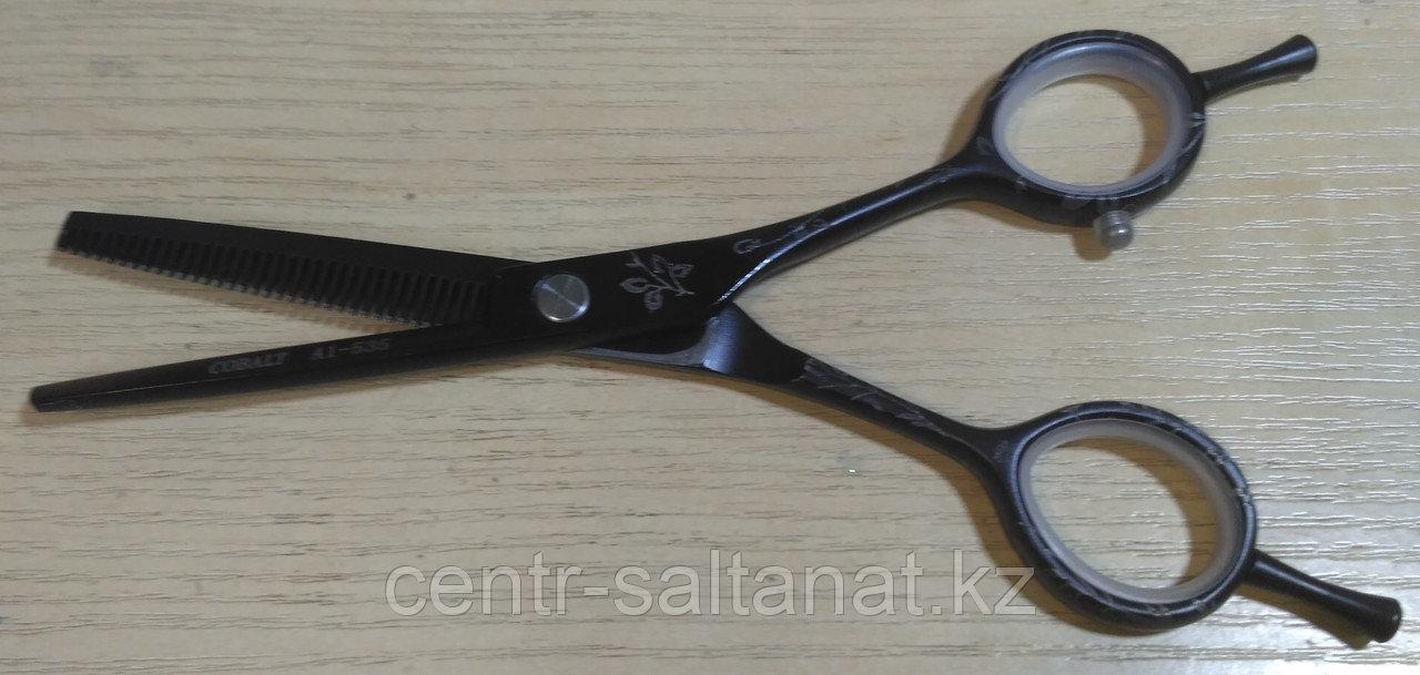 Ножницы фелировочные парикмахерские Cobalt