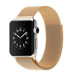 Ремешок для смарт часов Apple watch Миланский сетчатый 42 мм gold