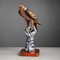 """Статуэтка """"Орёл на перчатке"""" 37см серебро, фото 1"""