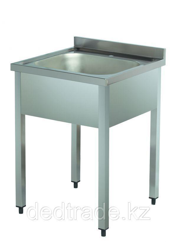 Мойка 1 секционная без полки нержавеющая сталь Размеры 600*600*850 мм