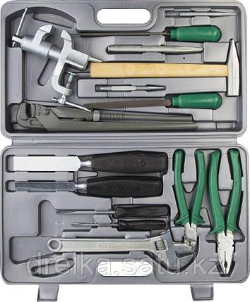 """Набор слесарно-монтажного инструмента НИЗ """"ПРОГРЕСС"""", сталь 40Х, в пластиковом кейсе, 15 предметов, фото 2"""
