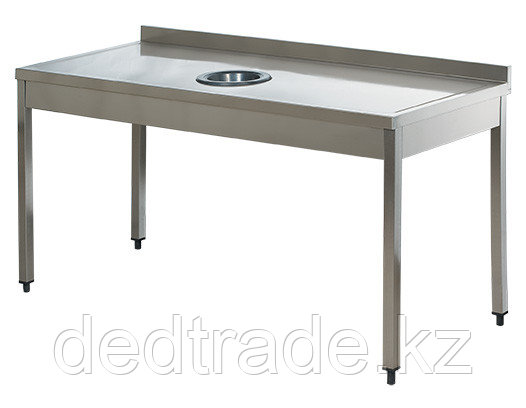 Стол для сбора отходов пиищи без полки нержавеющая сталь Размеры 1400*700*850 мм