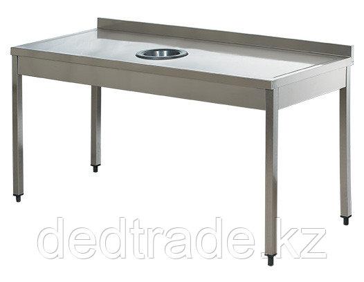 Стол для сбора отходов пиищи без полки нержавеющая сталь Размеры 1800*700*850 мм