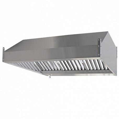 Зонт вытяжной пристенный с жироулавливающим лабиринтным фильтром ЗВ-П09/09 900х900х350мм