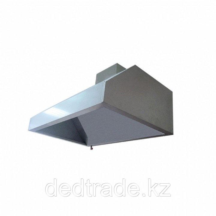 Зонты вытяжные пристенные без филтра нержавеющая сталь Размеры 2000*1200*500 мм