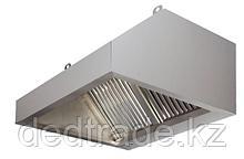 Зонты вытяжные пристенные с филтрем нержавеющая сталь Размеры 1600*1200*500 мм