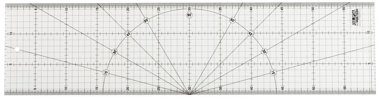 Линейка разметочная OLFA OL-MQR-15x60, метрическая, 150 х 600 мм