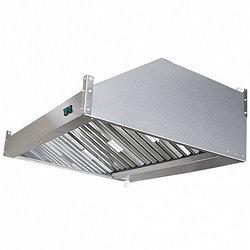 Зонт вытяжной пристенный с жироулавливающим лабиринтным фильтром, электровентилятором и подсветкой ЗВэ-П09/09