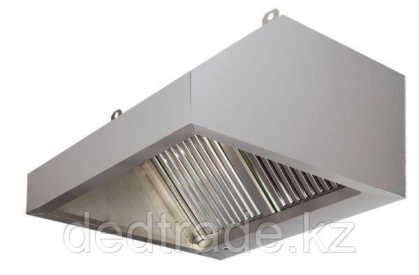 Зонты вытяжные пристенные с филтрем нержавеющая сталь Размеры 2000*1400*500 мм