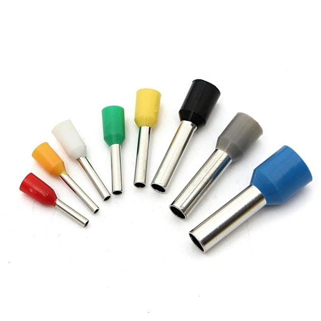 Наконечник штыревой изолированный Е0510 (НШВИ) 0,5 мм2, штырёк 10 мм, (1000 шт/упак.)