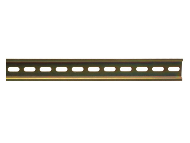 Металлическая DIN-рейка DR101 (ДРМ-П-101) 1×1000 mm перфорированная