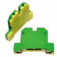 Клемма заземления на DIN-рейку EK-2.5 (КЗД-10ЖЗ) 10 mm² (желто-зеленая)