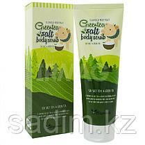 Elizavecca MIlky Piggy Green Tea Salt Body Scrub - Скраб с зеленым чаем и солью