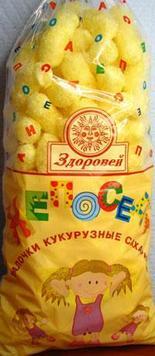 """Безглютеновая кукурузная палочка """"Непоседа"""" ,100 грамм"""