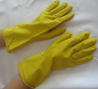 Перчатки резиновые, универсальные.