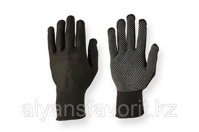 Перчатки нейлоновые трикотажные с ПВХ точками, фото 2