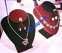 Манекен бюст шея под набор ( ожерелье, серьги, кольцо)