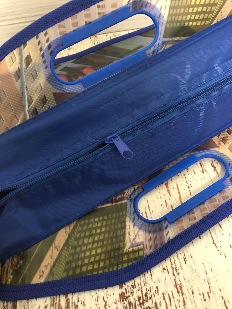 Детская папка-портфель с встроенными пластиковыми ручками Бэн Тэн (Ben 10) формат A4 синяя - фото 5