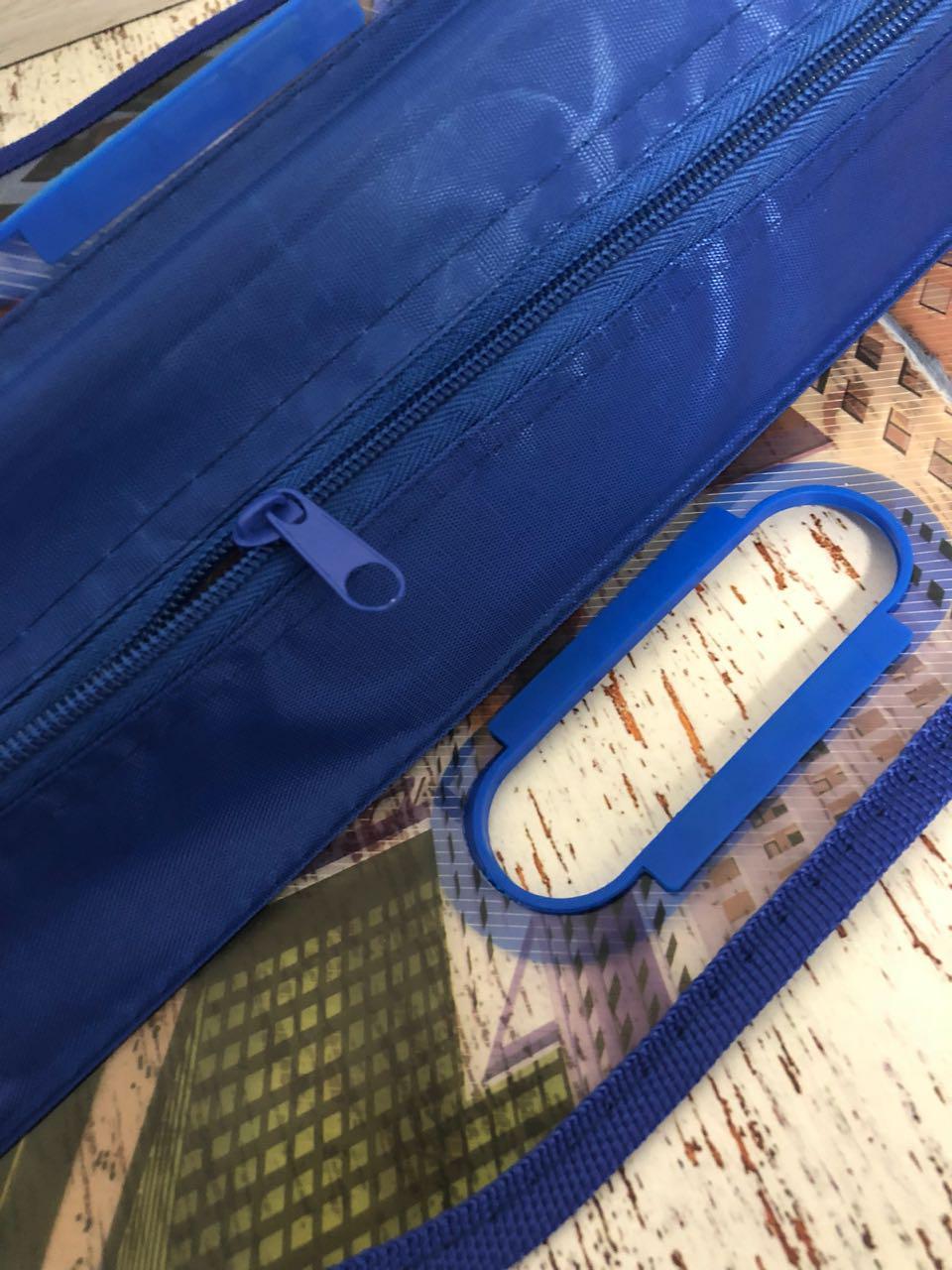Детская папка-портфель с встроенными пластиковыми ручками Бэн Тэн (Ben 10) формат A4 синяя - фото 3