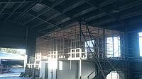 Процесс строительства универсального офиса для сотрудников склада медикоментов