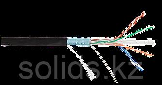 Кабель FTP 4 пары, Кат.6, одножильный, медный, 0,57мм, внутренний, PVC, серый, 305м, шт