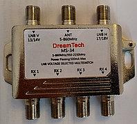 Мультисвитч  DreamTech MS-34  2входа-SAT,  1-TERA,  4выхода