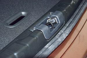 Накладка в проем багажника (Черное тиснение) (ABS) LADA XRay 2016-