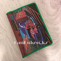 """Детская папка на молнии А4 пластиковая с тканевой окантовкой """"Огненный грузовик"""" (зеленая)"""