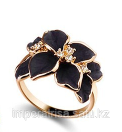 """Кольцо """"Черный цветок"""""""