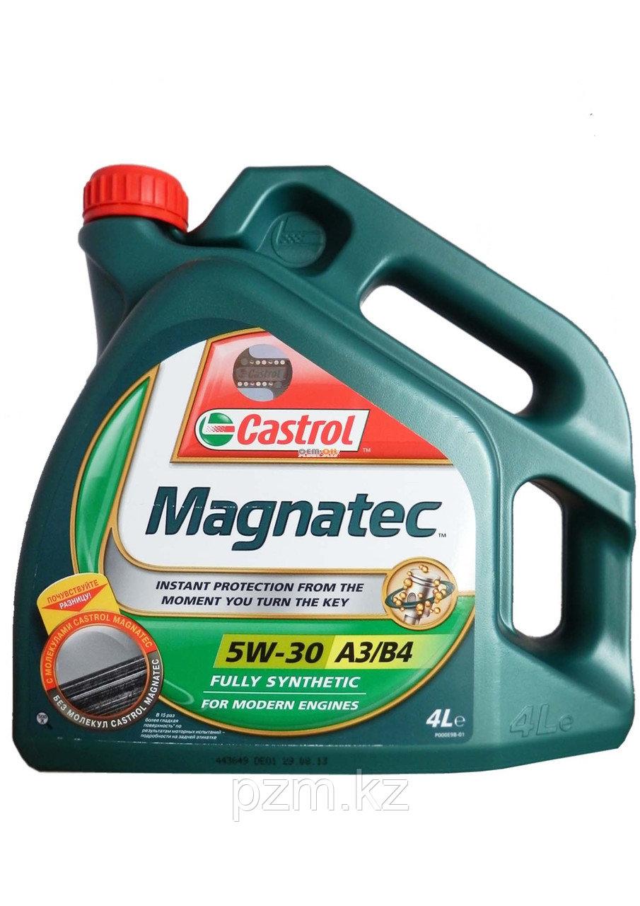 Синтетическое моторное масло Castrol Magnatec 5W30 А3/В4 4л