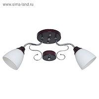 """Люстра """"Пиафлор"""" 2 лампы 60W E27 основание хром коричневый 60х15х23,5 см"""