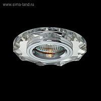 Светильник встраиваемый точечный Linvel MR16 GU5.3 CRY-03 CH MIRROR многогранник