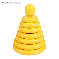 """Пирамидка """"Жёлтая"""", 8 деталей"""