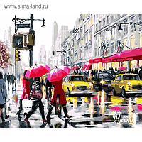 """Рисование по номерам """"На светофоре, Нью-Йорк"""" 40х50 см"""