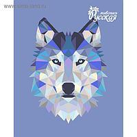 """Рисование по номерам """"Волк (полигональный стиль)"""" 40х50 см"""