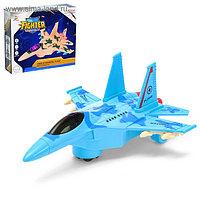"""Самолет """"Истребитель"""", световые и звуковые эффекты, работает от батареек Микс"""