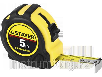STAYER TopTape 7,5м / 25мм рулетка в ударостойком обрезиненном корпусе