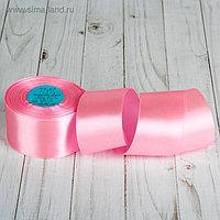 Лента атласная, 50 мм, 33±2 м, №005, цвет розовый