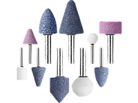 """Набор STAYER """"MASTER"""": Абразивные мини шарошки-насадки для гравера и дрели, 10 предметов"""