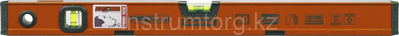 """Уровень KRAFTOOL """"KRAFT-MAX"""" магнитный, особо усилен, 2 ампулы, 2 фрезерованные базовые поверхности, 100см"""