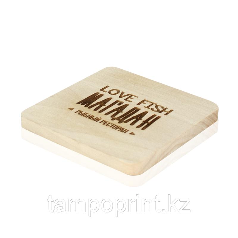 Костер деревянный DS059 береза с гравировкой