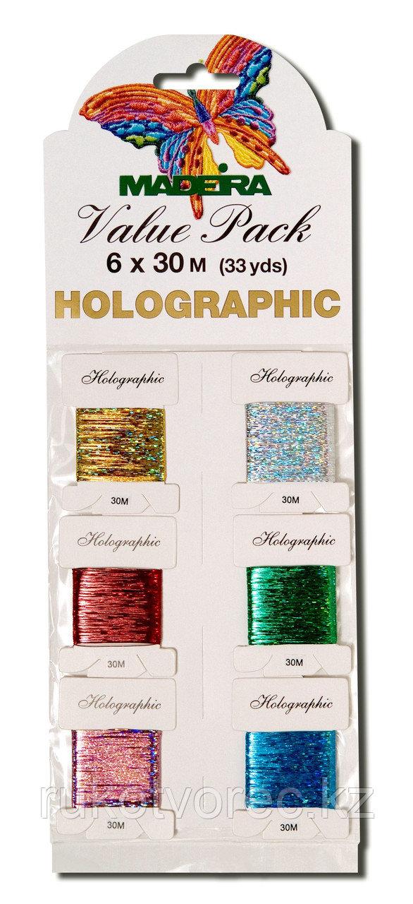 Нитки Madeira Holografic разноцветные