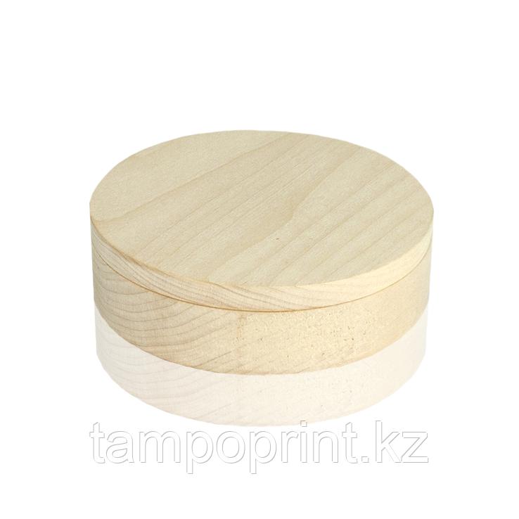 U-PK094 Деревянная упаковка круглая береза