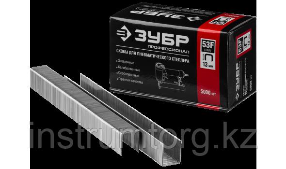 ЗУБР 10  мм скобы для степлера плоские тип 53F, 5000 шт