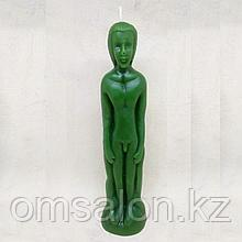 Свеча восковая  Мужчина (зеленая)